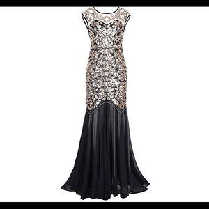 Dresses & Skirts - 20's Beaded Sequin Maxi Gatsby Flapper Dress